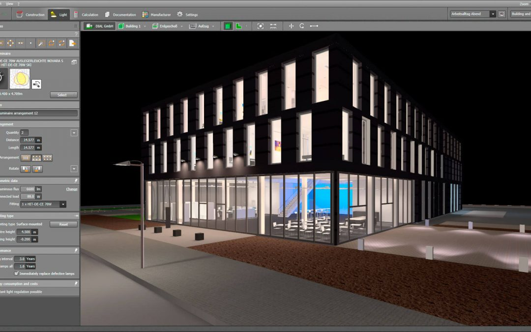 how to use dialux lighting software