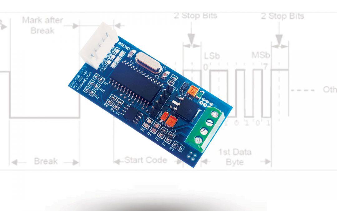 بررسی و راه اندازی پروتکل DMX512