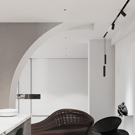 کاربرد چراغ آویز آهنربایی طراحی داخلی مدرن