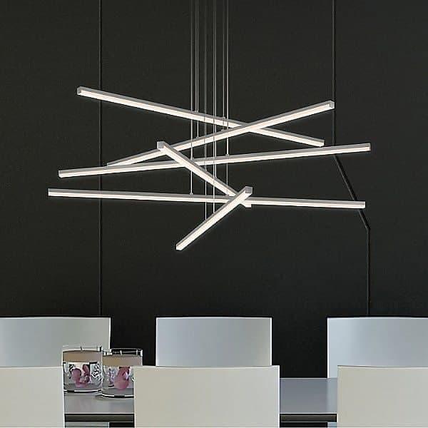 1. چراغ های خطی آویز با اشکال هندسی