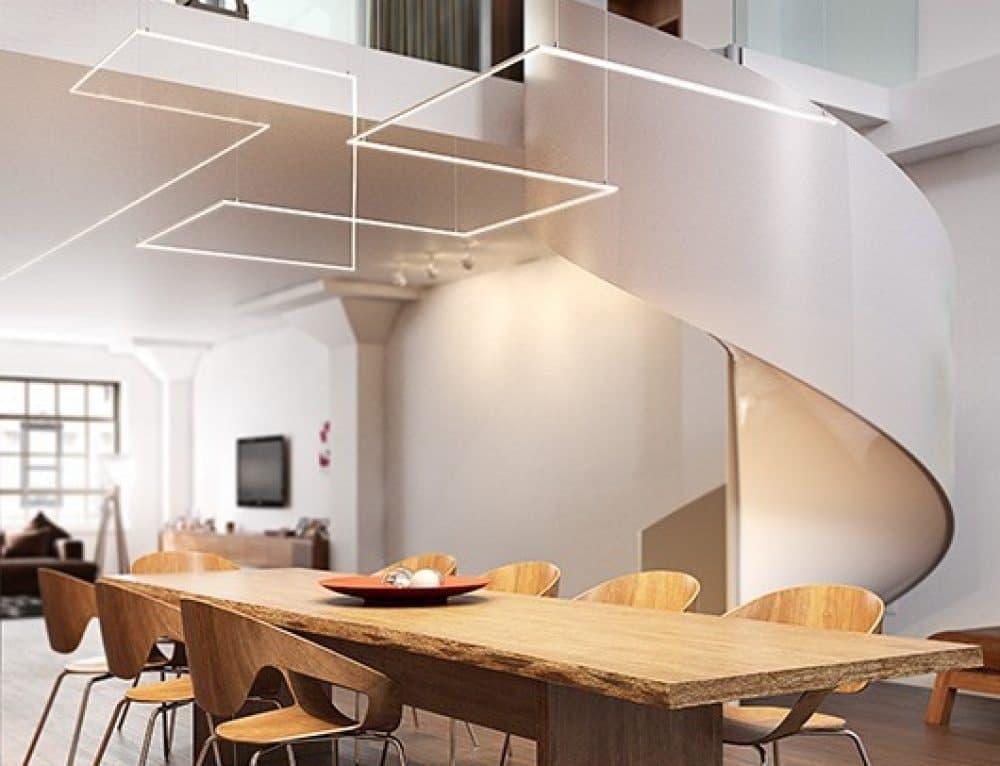 چراغ های خطی آویز با اشکال هندسی