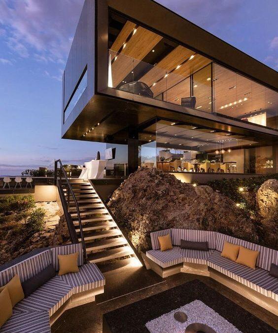 معماری مدرن و کاربرد نورپردازی چراغ های آرند
